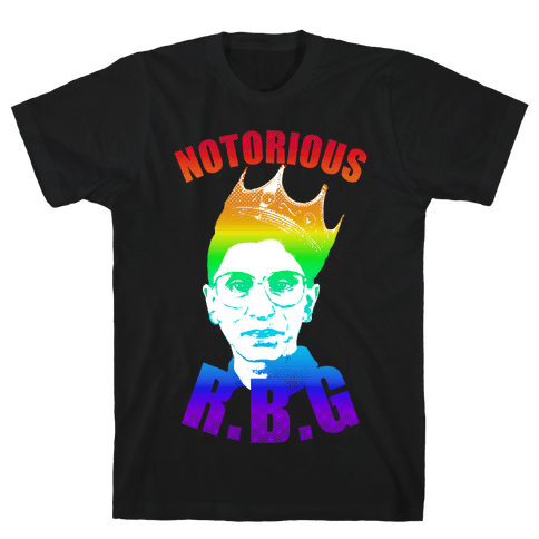 Rainbow Notorious R.B.G. Mens T-Shirt