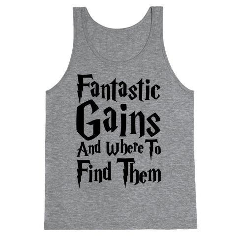 Fantastic Gains and Where To Find Them Parody Tank Top