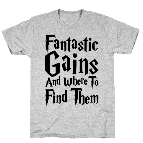 Fantastic Gains and Where To Find Them Parody Mens T-Shirt