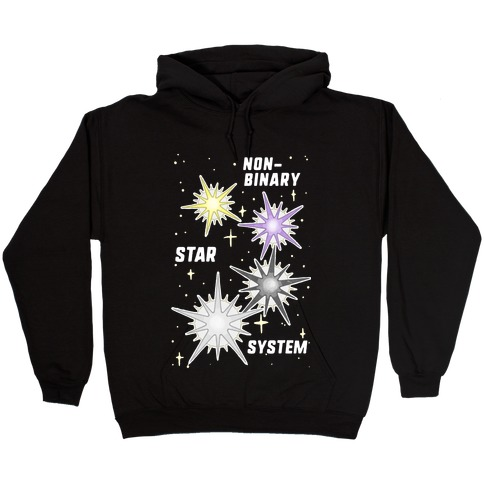 Non-Binary Star System Hooded Sweatshirt