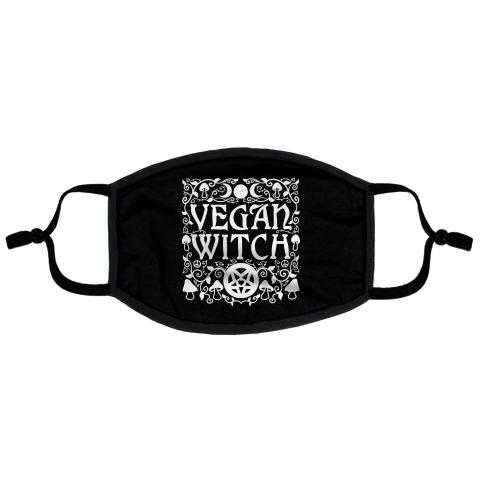 Vegan Witch Flat Face Mask