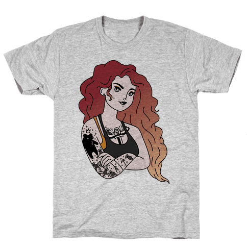 Punk Merida Parody Mens T-Shirt