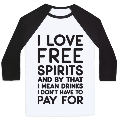 I Love Free Spirits Baseball Tee