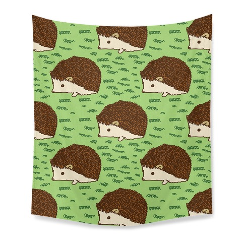 Cute Hedgehog Pattern Tapestry