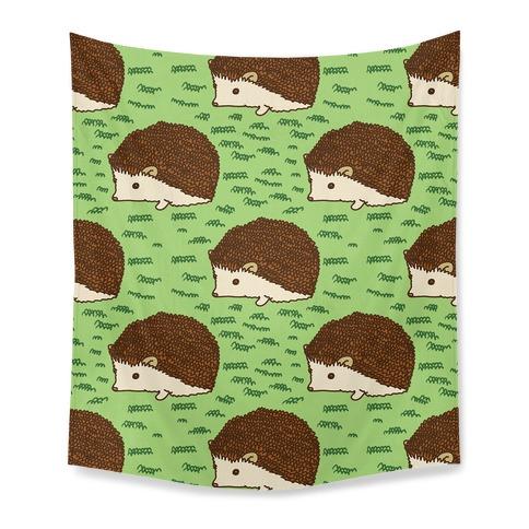 Cute Hedgehog Pattern Tapestry