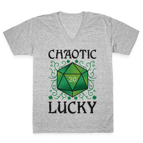 Chaotic Lucky V-Neck Tee Shirt