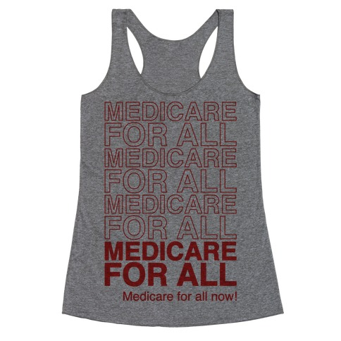 Medicare For All Racerback Tank Top