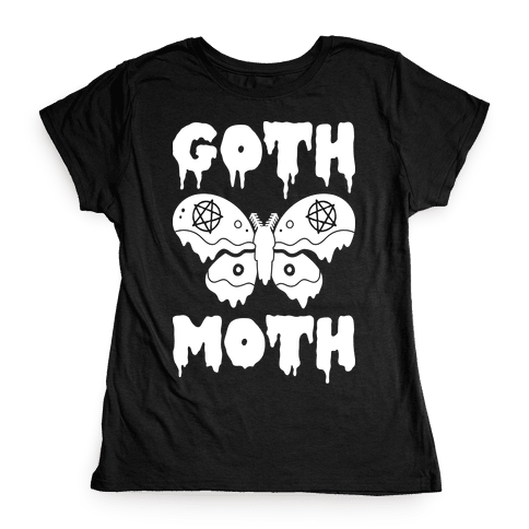 Goth Moth Womens T-Shirt