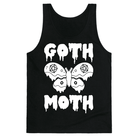 Goth Moth Tank Top