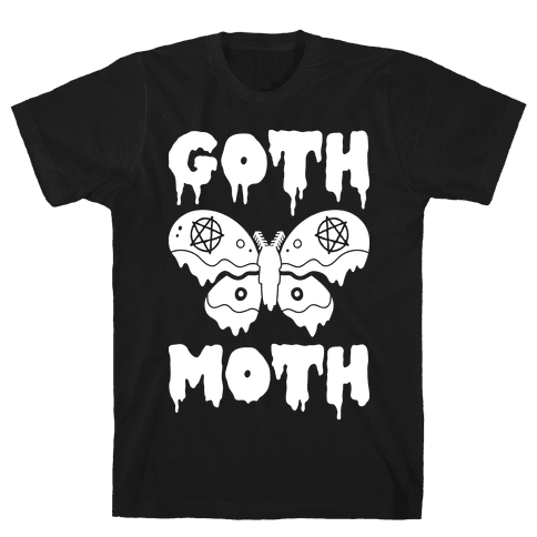Goth Moth Mens T-Shirt