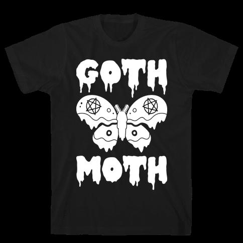 Goth Moth Mens T-Shirt