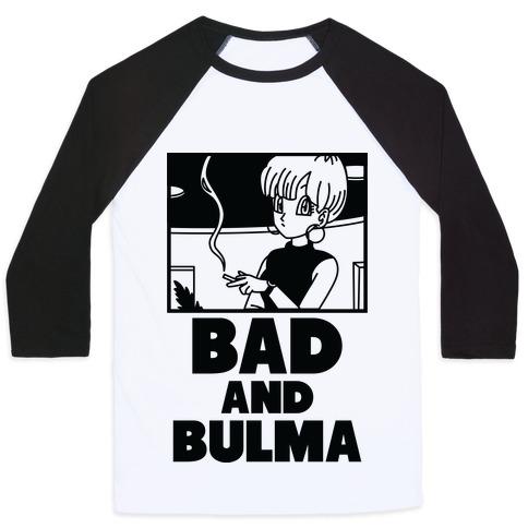 Bad And Bulma Baseball Tee