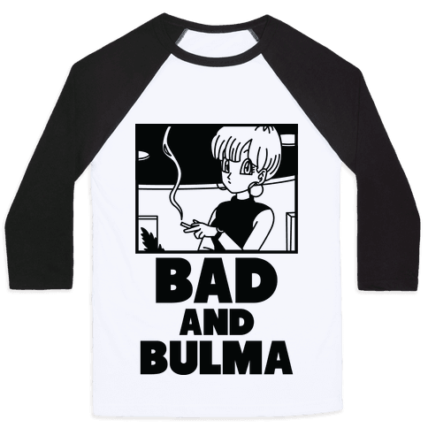 Bad And Bulma Baseball Tee