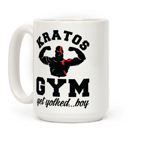 Kratos Gym Get Yolked Boy Coffee Mug