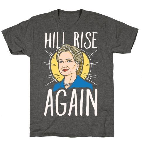Hill Rise Again White Print T-Shirt