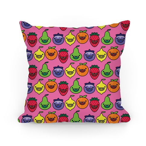 Scary Berries Pattern Pillow
