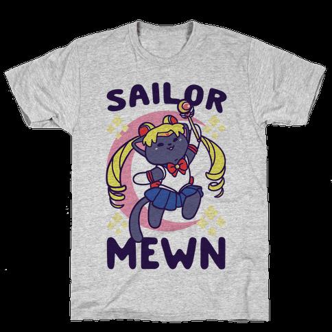 Sailor Mewn Mens/Unisex T-Shirt