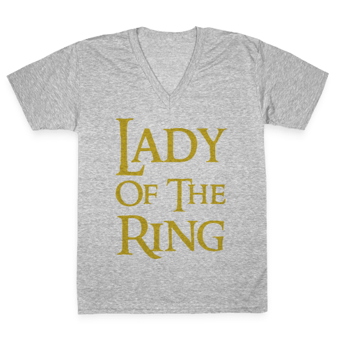 Lady of the Ring V-Neck Tee Shirt