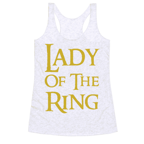 Lady of the Ring Racerback Tank Top