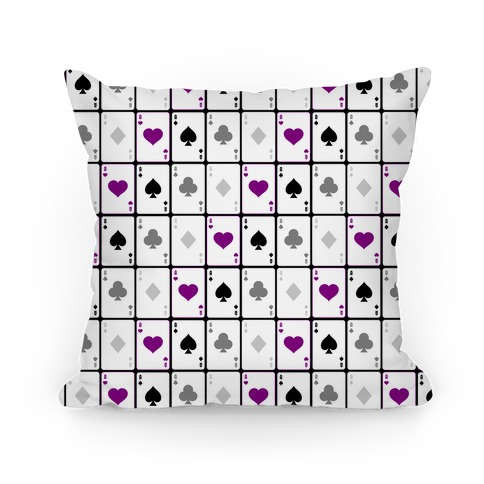 Asexual Aces Pattern Pillow