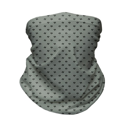Dainty Dashes Pattern Grey Neck Gaiter