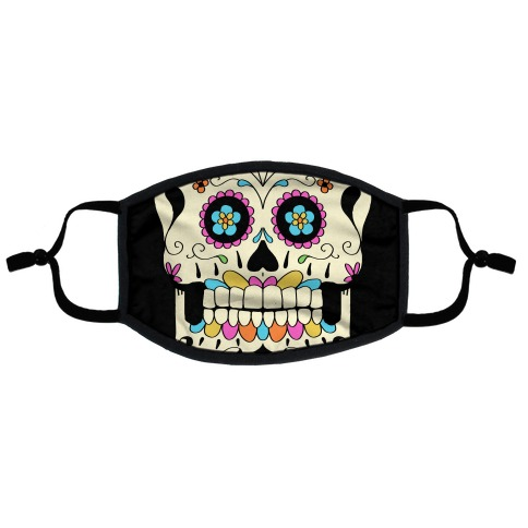Candy Skull Flat Face Mask