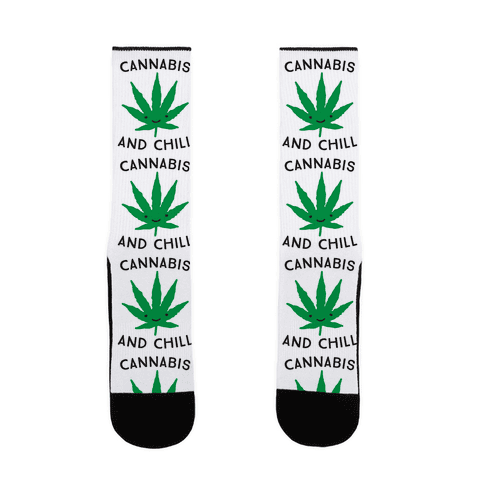Cannabis And Chill Sock