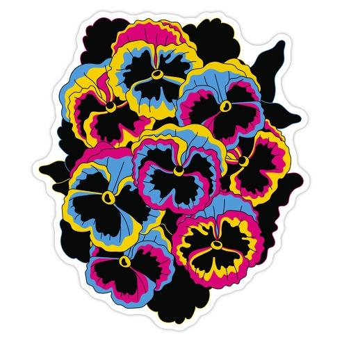 Pan-sy (Pansexual Pansies)  Die Cut Sticker