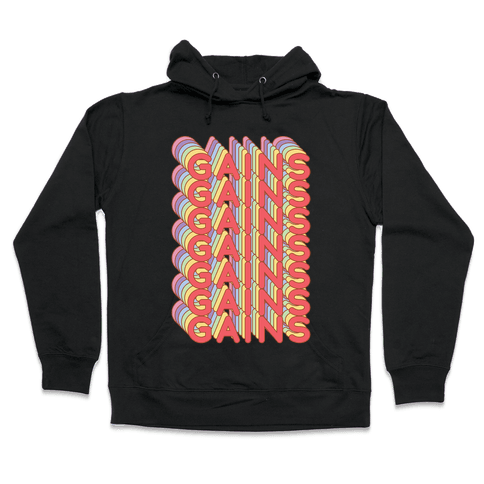 Gains Retro Rainbow Hooded Sweatshirt