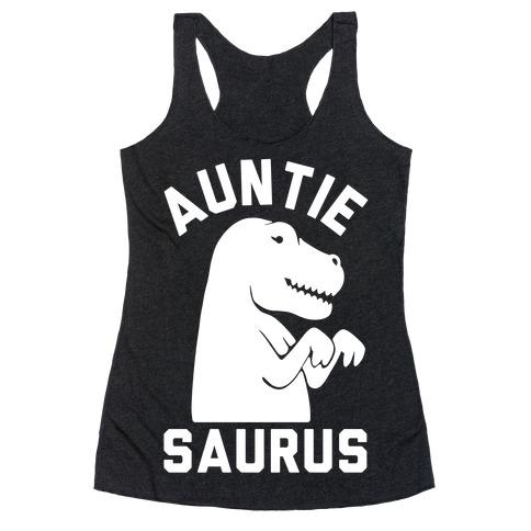 Auntie Saurus Racerback Tank Top