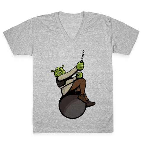 Shreking Ball V-Neck Tee Shirt