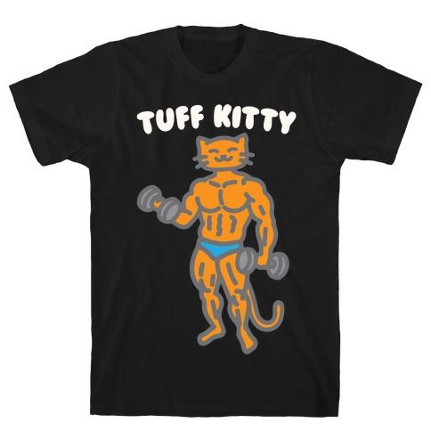 Tuff Kitty White Print T-Shirt