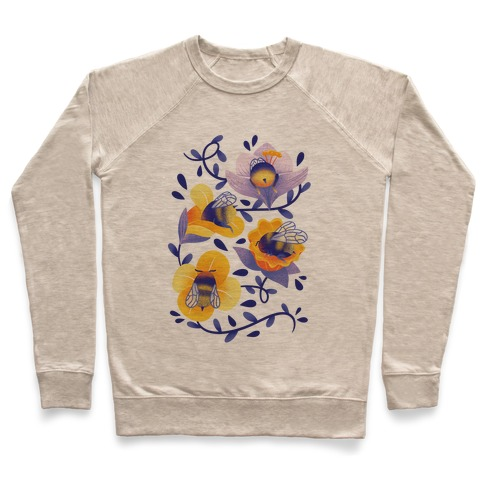 Sleepy Bumble Bee Butts Floral Pullover