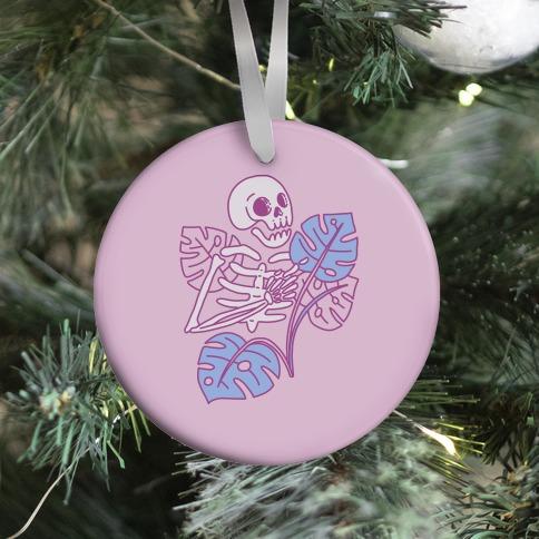 Monstera Skeleton Ornament