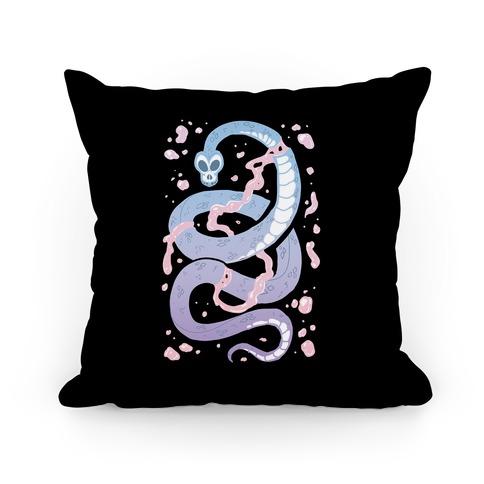 Pastel Goth Snake Pillow