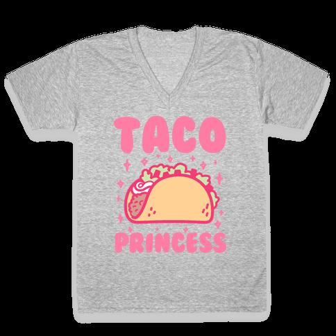 Taco Princess V-Neck Tee Shirt