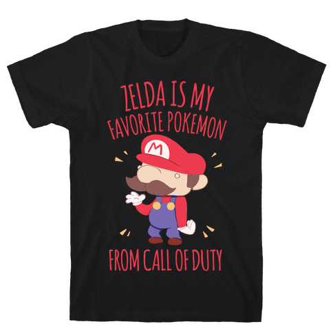 Zelda Is My Favorite Pokemon Mens T-Shirt