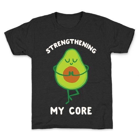 Strengthening My Core Kids T-Shirt