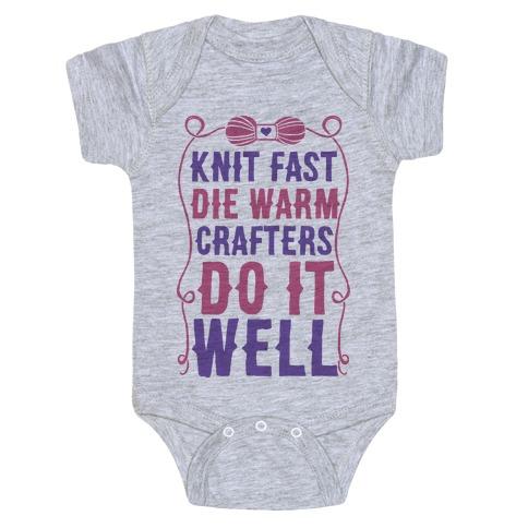 Knit Fast, Die Warm Baby Onesy