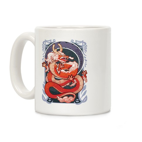 Art Nouveau Dragon Coffee Mug