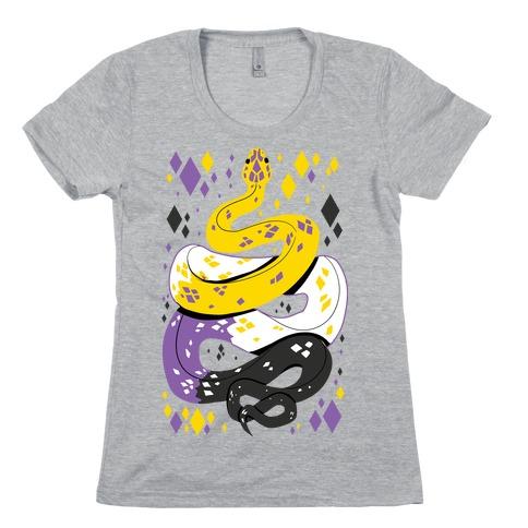 Pride Snakes: Non-binary Womens T-Shirt