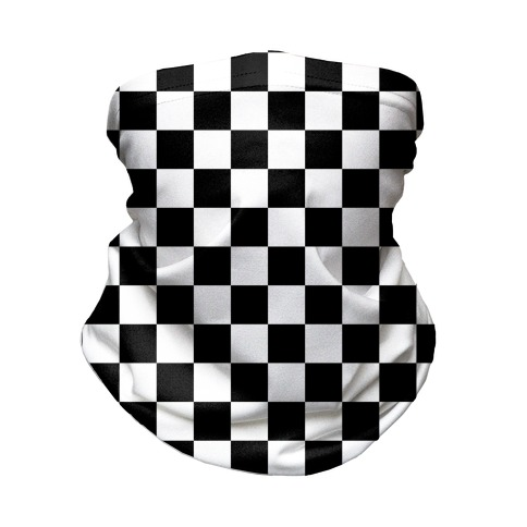 Checkered Black and White Neck Gaiter