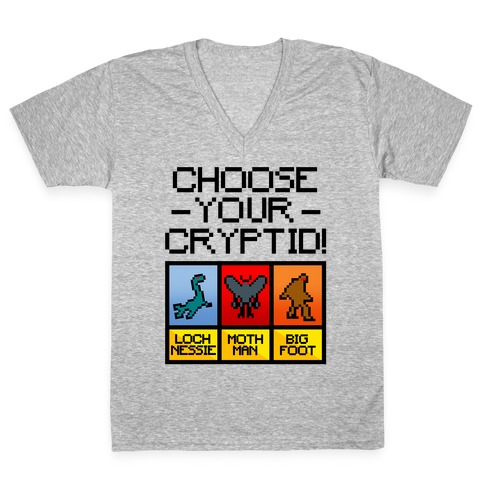 Choose Your Cryptid V-Neck Tee Shirt