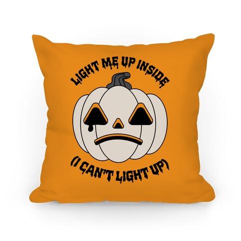 Light Me Up Inside Pumpkin Pillow