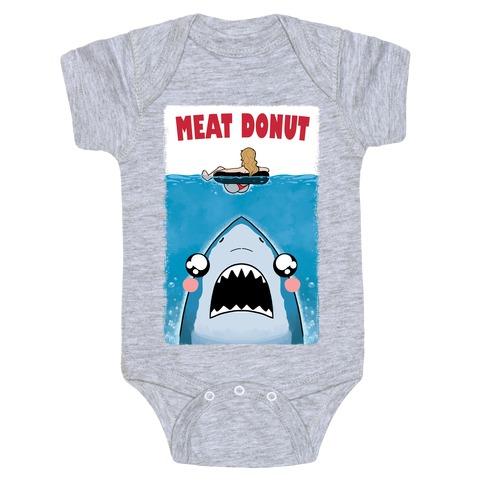 Meat Donut Jaws Parody Baby Onesy