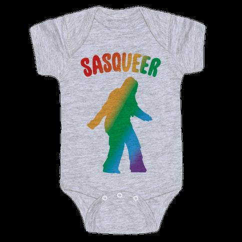 Sasqueer Parody Baby Onesy