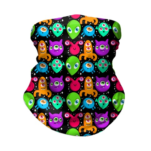 Silly Aliens Pattern Neck Gaiter
