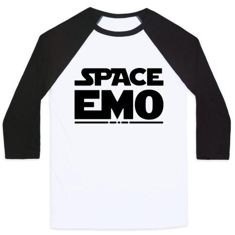Space Emo Parody Baseball Tee
