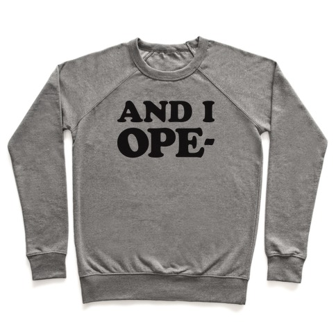 And I Ope- Pullover