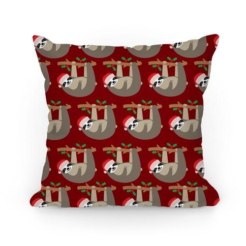 Slow Ho Ho Santa Sloth Pillow